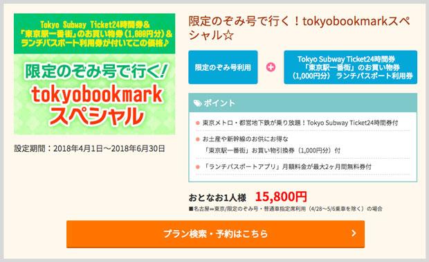 トーキョーブックマーク日帰り(中部発)