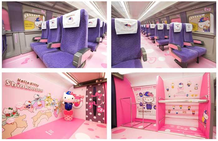 ハローキティ新幹線2号車